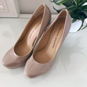 Chinese Laundry Wonder Platform Dress Heels Nude